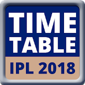 Time Table for IPL 2018 - T20 Season 11 Schedule