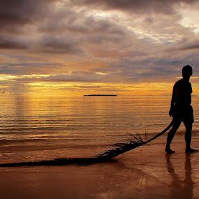 When i lose you by Wahid Hasyim - Landscapes Sunsets & Sunrises ( sunset, shiluette, landscape,  )
