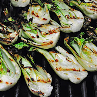 Grilled Baby Bok Choy with Lime Dressing.