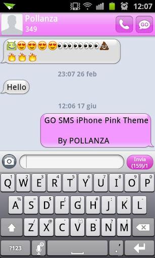 go sms iphone theme apk