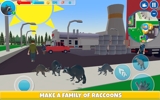 Raccoon Adventure: City Simulator 3D  screenshots 8