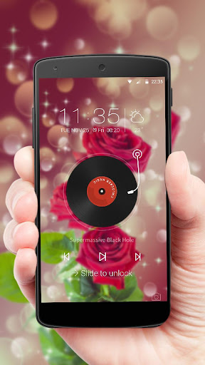 Red rose dream bubble theme 1.1.9 screenshots 4