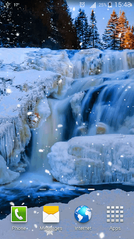 android Frozen Waterfall HD Wallpaper Screenshot 13