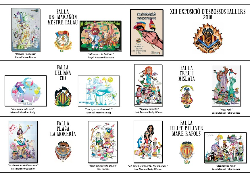 Presentación de bocetos de las Fallas de la Agrupación de Mislata
