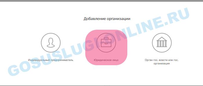 Госуслуги: Личный кабинет юридических лиц