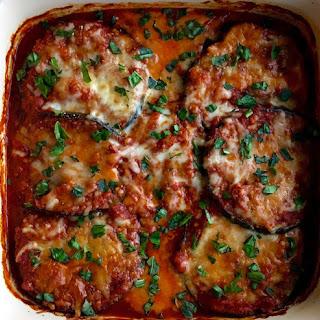 Baked Eggplant Parmesan.
