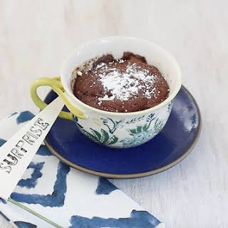 How to Make a Chocolate Molten Lava Mug Cake in a Microwave.