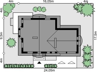 Dom przy Cyprysowej 37 - Sytuacja
