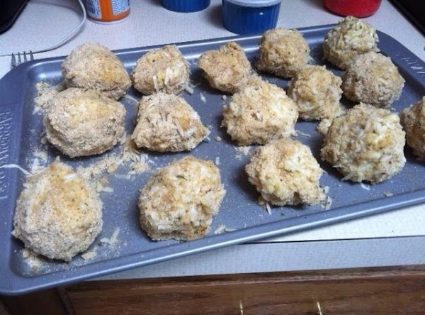 rice balls ready for the oven