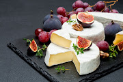 Camembert cheese, one of France's most famous soft cheeses.