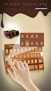 Yummy Chocolate Theme&Emoji Keyboard - náhled