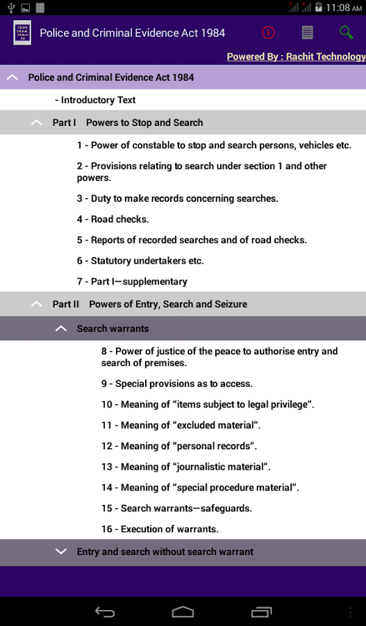 essay police criminal evidence act 1984 Free essay: evidence is the key element in determining the guilt or innocence of  those accused of crimes against  police and criminal evidence act 1984.