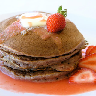 Strawberry-Coulis Infused Pancakes