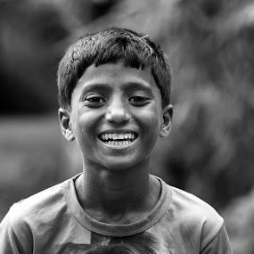 Rich Laugh  by Iqbal Kabir - Black & White Portraits & People