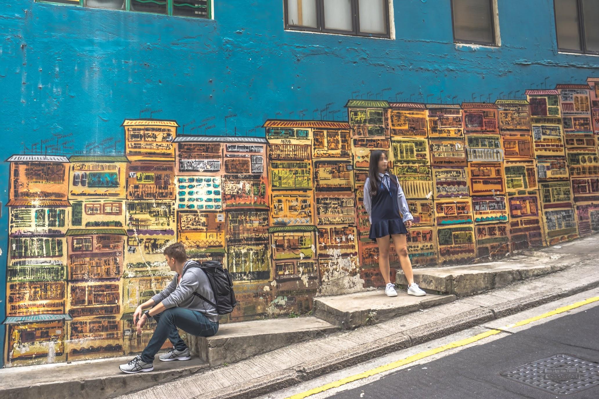 香港 ウォールアート3