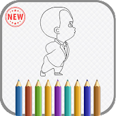 Coloring Book : Baby Boss