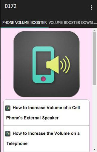 Cell Phone Volume Booster