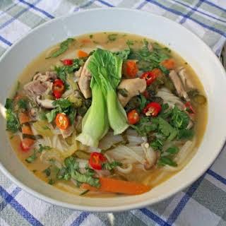 Thai Coconut Soup (Tom Kha Gai).
