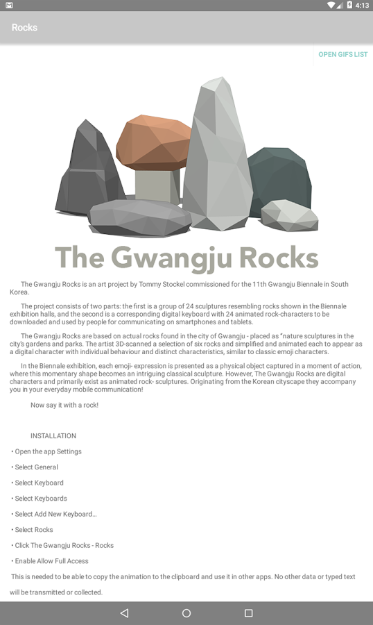 The Gwangju Rocks App- screenshot