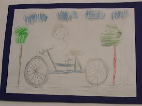 """Photo: praca Dawida """" jeździmy rowerem bo ... to całkowita swoboda """""""