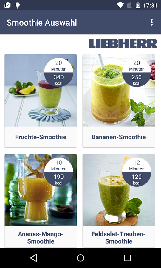 Liebherr Smoothies & Ice – Screenshot