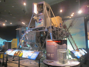 Photo: Flashback to the VASC -- here is *THE* lunar landing simulator used by Neil Armstrong at the Gantry! So cool. Oh, and a moon rock.