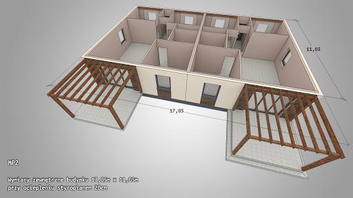 Dom gotowy MP2 - Rzut parteru