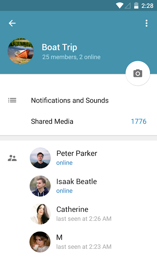 Telegram: captura de pantalla