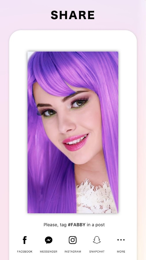 Fabby Look Hair Color Changer Style Effects Android Apps On - Hair style change photo effect