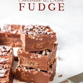 Keto Chocolate & Mint Fudge.