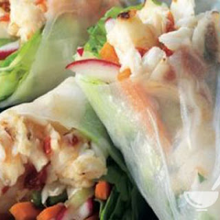 Description Summer Rolls with Halibut, Lemongrass and Radishes