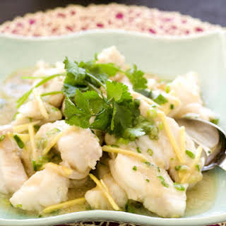 Ginger and Cilantro White Fish.