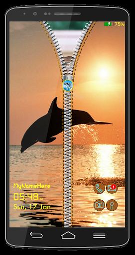 Dolphin Zipper Lock Screen