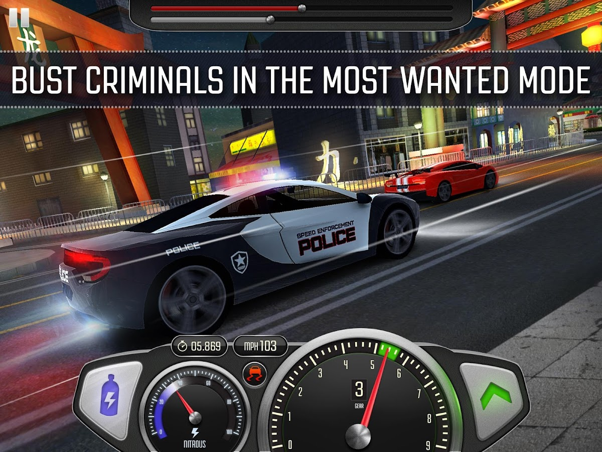 Screenshots of Top Speed: Drag & Fast Racing for iPhone