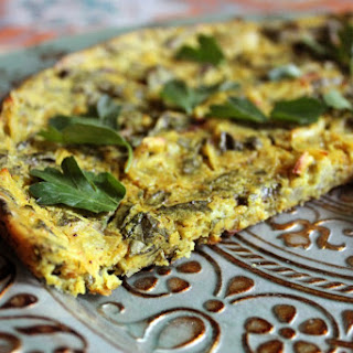 Baked Spinach and Herb Frittata (No Tofu Required!) [Vegan, Gluten-Free]