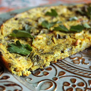 Baked Spinach and Herb Frittata (No Tofu Required!) [Vegan, Gluten-Free].