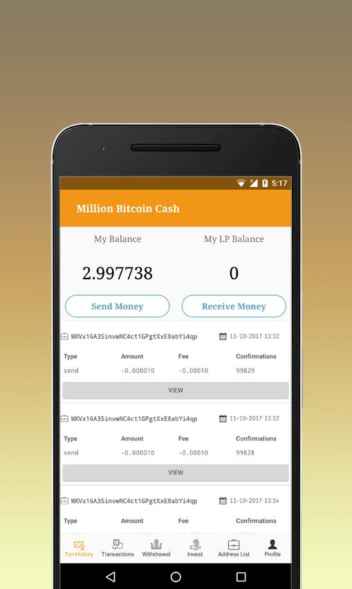 Million Bitcoin Cash- screenshot
