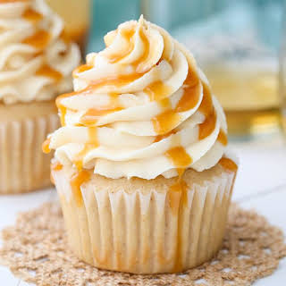 Caramel Bourbon Vanilla Cupcakes.
