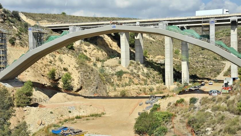 Obras del AVE en Almería incluidas en el Corredor Mediterráneo.