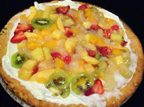 "Fruit Pizza Recipe ""What a wonderful pizza. A great one for the grandkids..."