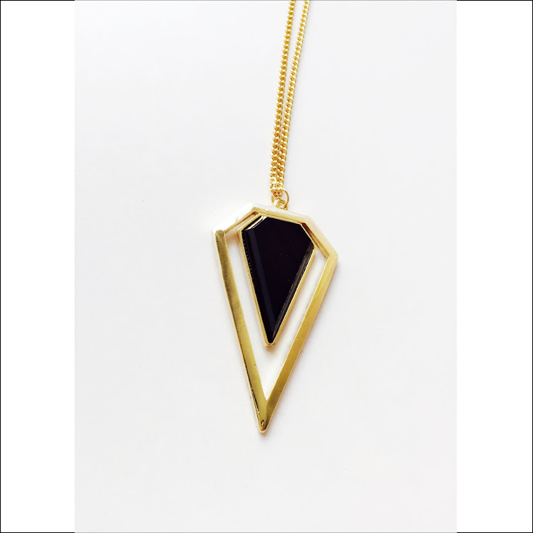 N037 - B. Arrowhead Crystal Necklace by House of LaBelleD.