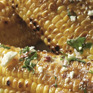 Grilled Corn on the Cob Recipe with Chipotle Chilli Butter.