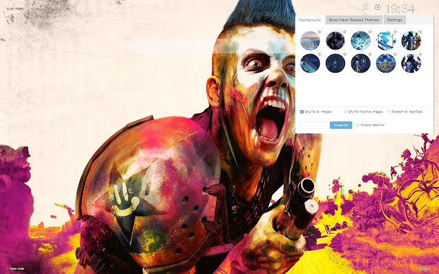 Rage 2 Wallpapers HD New Tab Themes