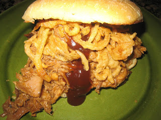 Pulled Pork & Crispy Onion Ciabatta Sandwiches Recipe