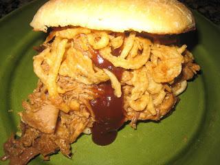 Pulled Pork & Crispy Onion Ciabatta Sandwiches Recipe