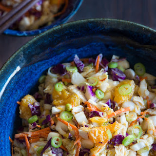 """Asian Slaw with Red Chili """"Peanut"""" Dressing"""