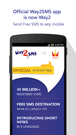 Way2SMS Free SMS is now Way2 4.05 screenshot 235620