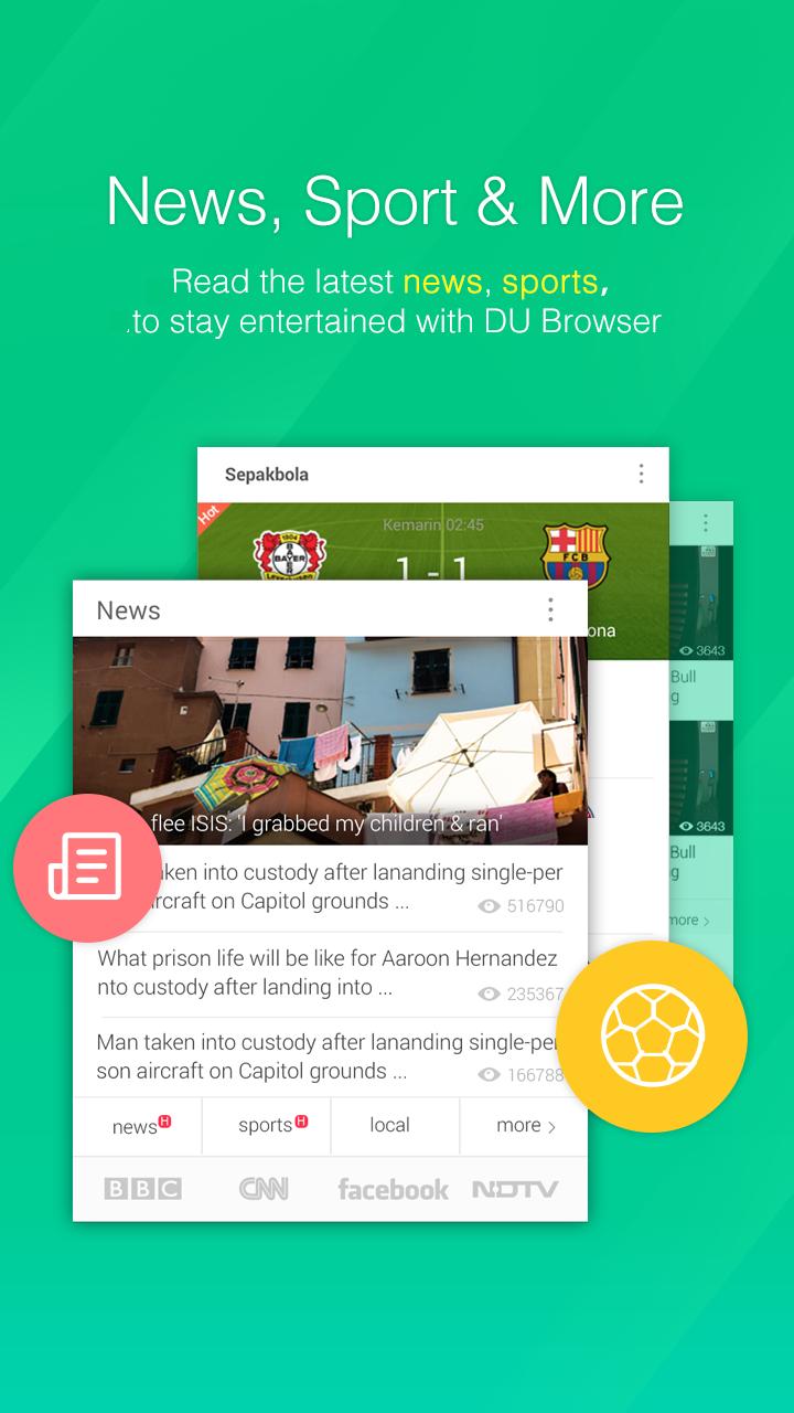 DU Browser—Browse fast & fun screenshot #2