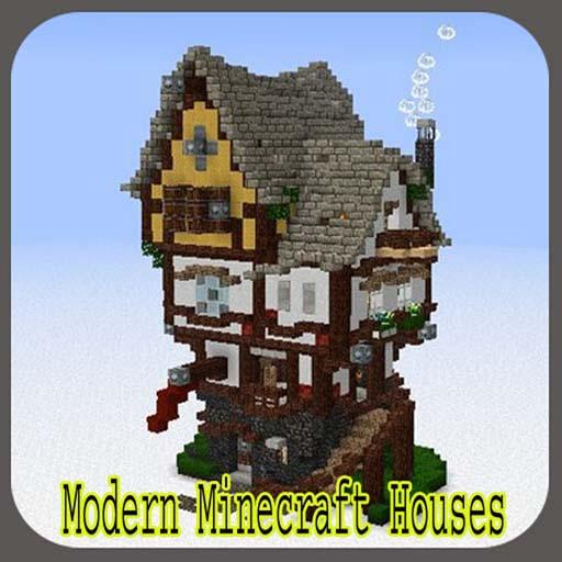 Modern Minecraft House Design For Android: Minecraft Cartoon Houses