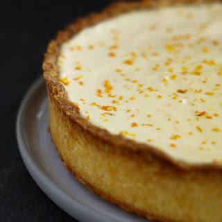 No Bake Tangerine Cheesecake